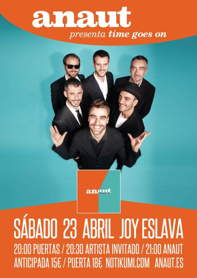 Anaut presentara su nuevo disco el 23 de Abril en la sala Joy Eslava de Madrid.