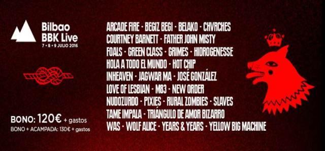 Cartel del BBK Live 2016