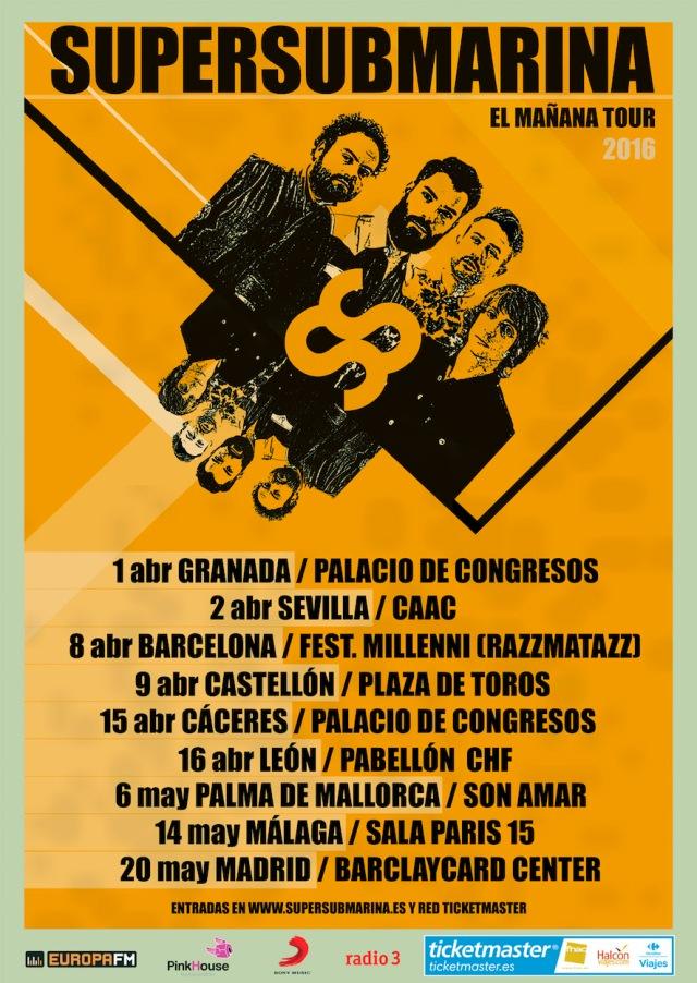 El 1 de Abril comienza ¨El Mañana Tour¨de Supersubmarina.
