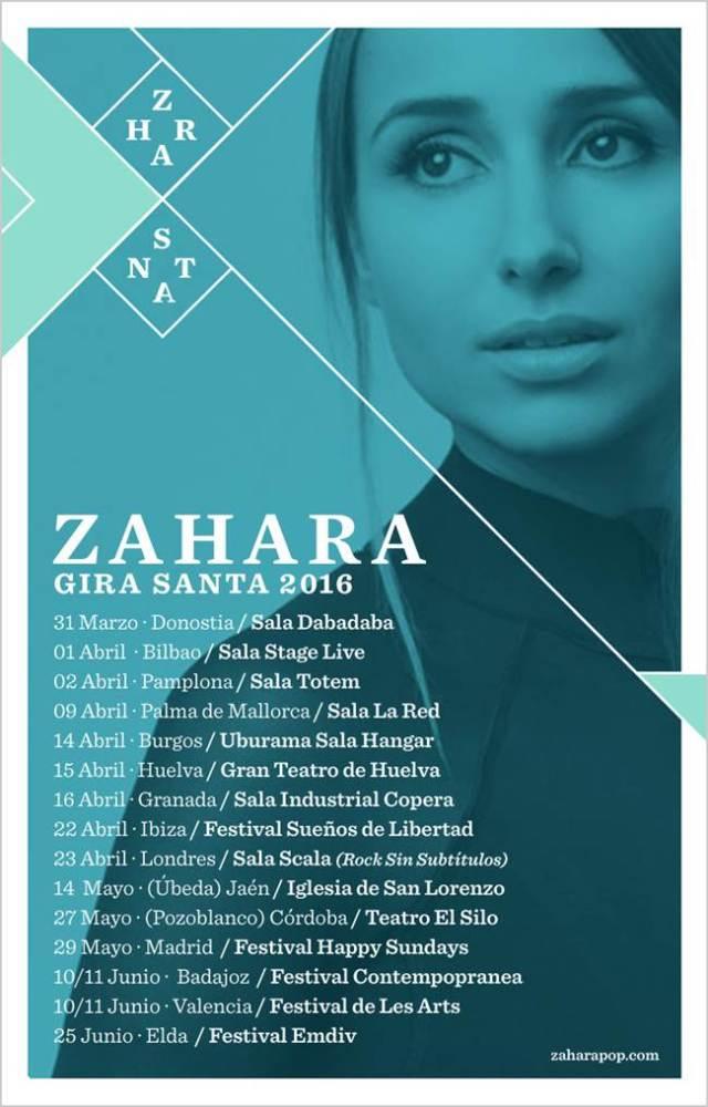 Gira ¨Santa¨2016 de Zahara.