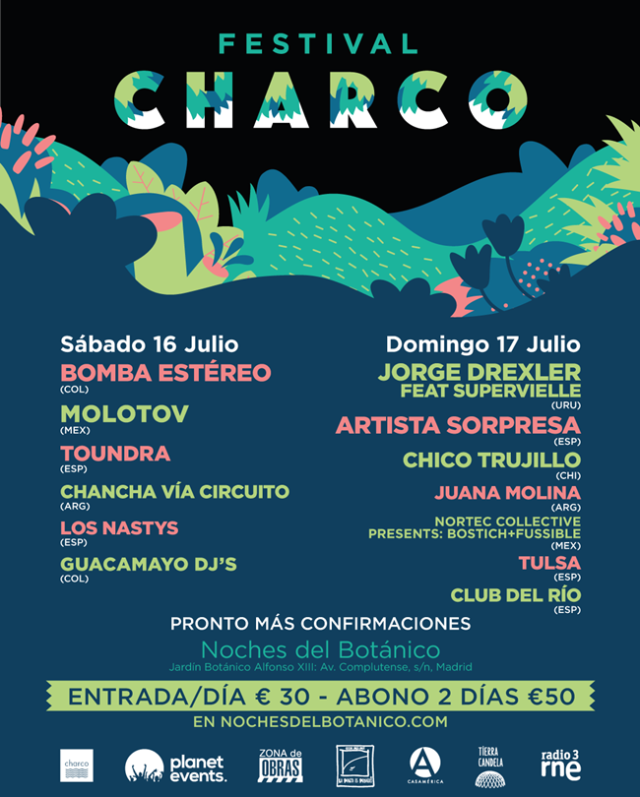 Festival Charco en Las Noches del Bótanico.