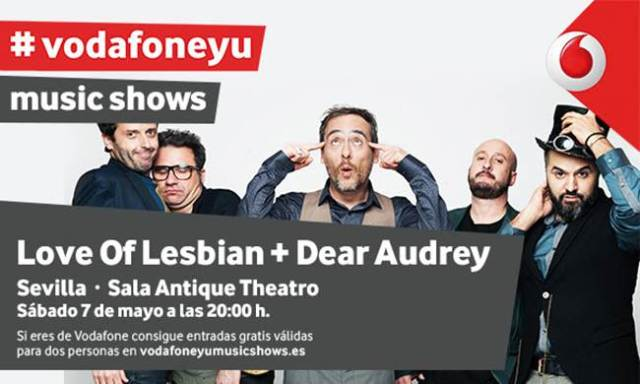 Love Of Lesbian protagonistas de los music shows de Vodafone yu