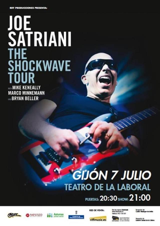 El 7 de Julio en Gijón comienza la nueva gira por España de Joe Satriani.