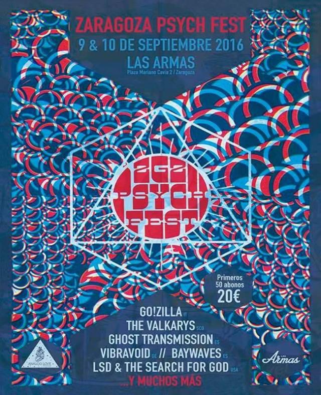 Go!Zilla estarán en el Zaragoza Psych Fest.