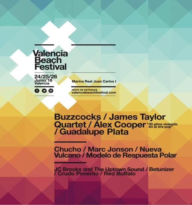 Cartel Valencia Beach Festival.
