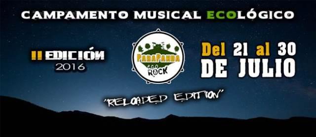 Del 21 al 30 de Julio en Granada se celebra el campamente Parapanda Eco Rock.