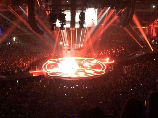 Muse nos sorprendió en esta gira con un escenario de 360 grados