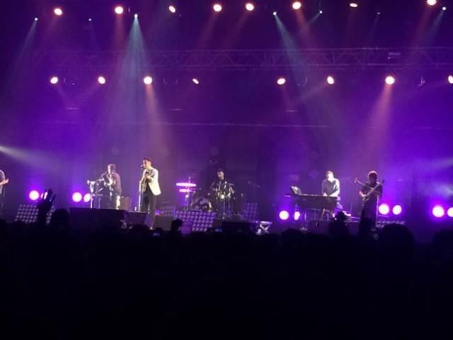 Supersubmarina durante su concierto en el Barclaycard Center de Madrid.