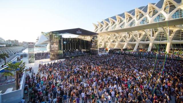 Escenario del festival Les Arts en Valencia.