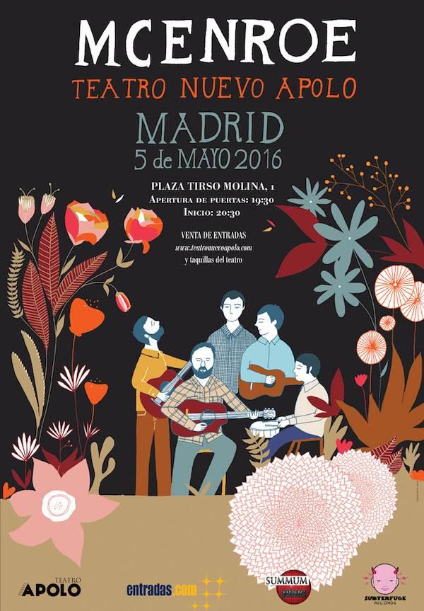 McEnroe estaran este jueves en el Teatro Nuevo Apolo de Madrid presentando ¨Rugen las flores¨