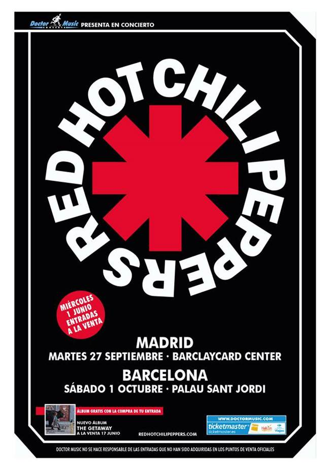 Red Hot Chili Peppers vuelven a España.
