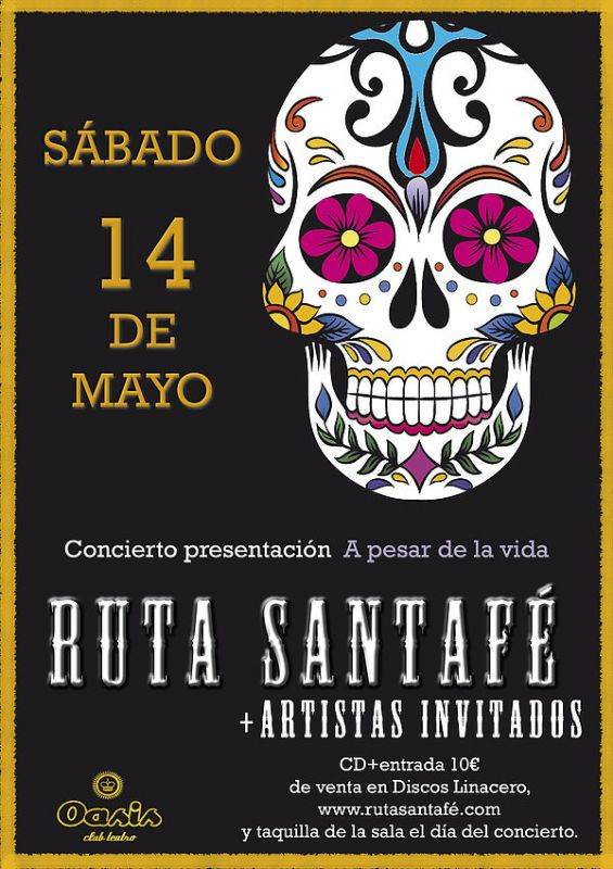 Ruta Santafé estrena su primer LP ¨A pesar de la vida¨ en la sala Oasis de Zaragoza.