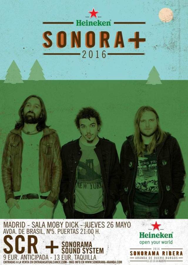 SCR estarán en la fiesta de presentación del Sonorama Ribera en Madrid.