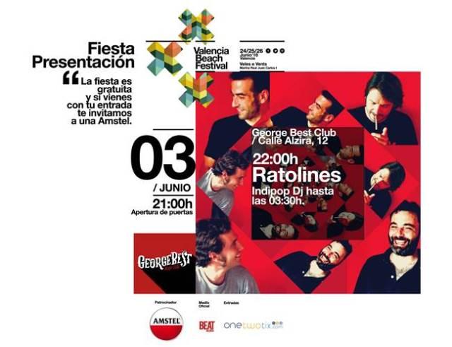 Ratolines estarán en la fiesta de presentación del Valencia Beach Festival.