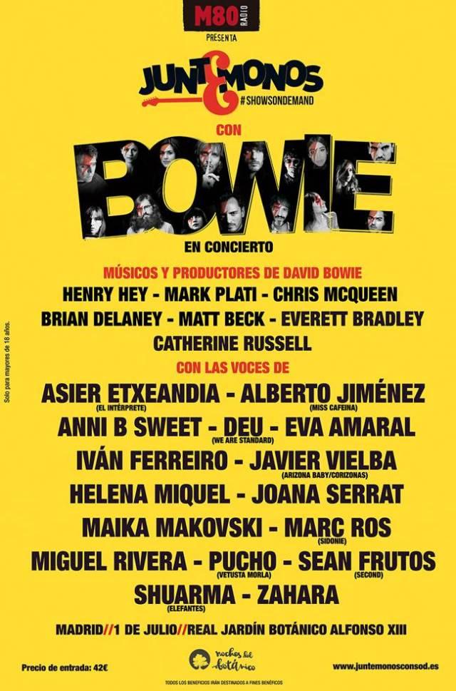 Cartel definitvo de Juntémonos con Bowie en Madrid.