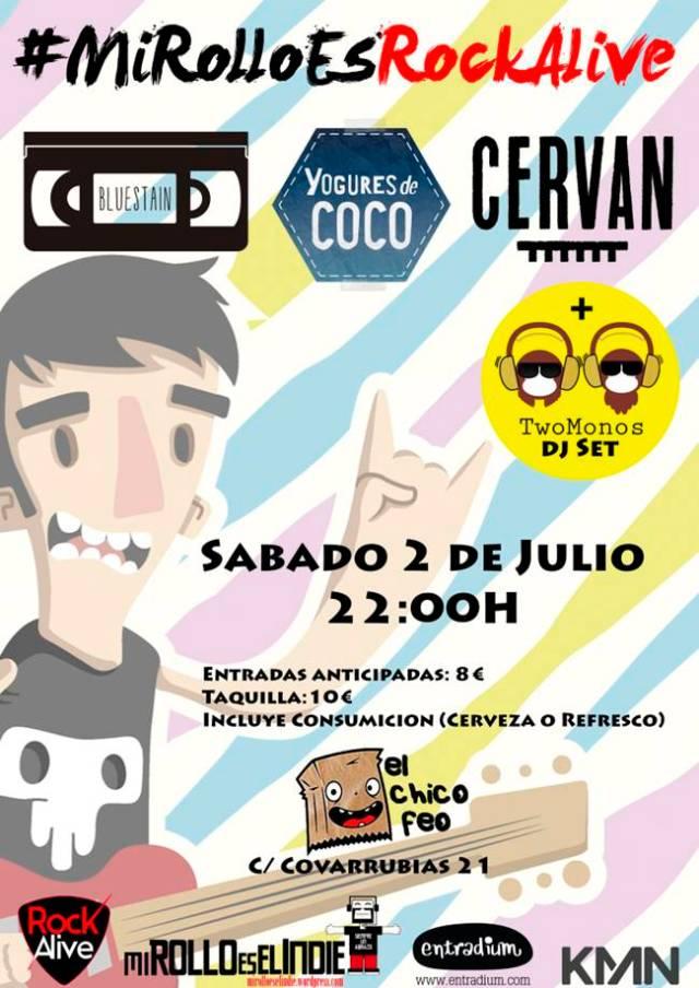 Mi rollo es el indie y Rock Alive se unen este sábado 2 de julio en Madrid