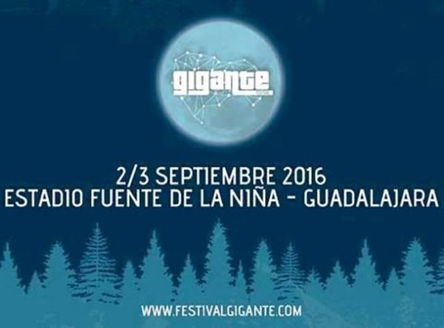 El festival Gigante se celebra del 2 al 3 de Septiembre en Guadalajara y tendrá como invitado a la banda ganadora del concurso de Sandevid