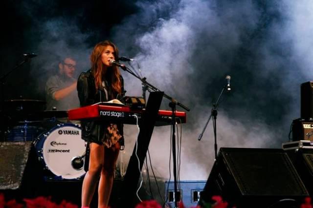 Lucia Scansetti durante uno de sus conciertos.