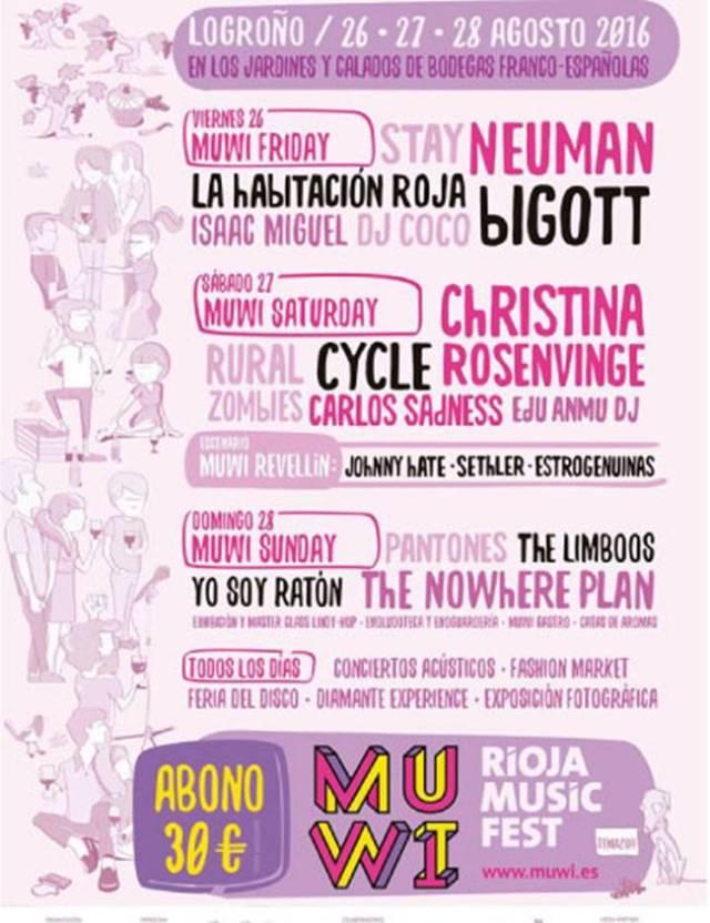 Cartel de la primera edición del Muwi Fest