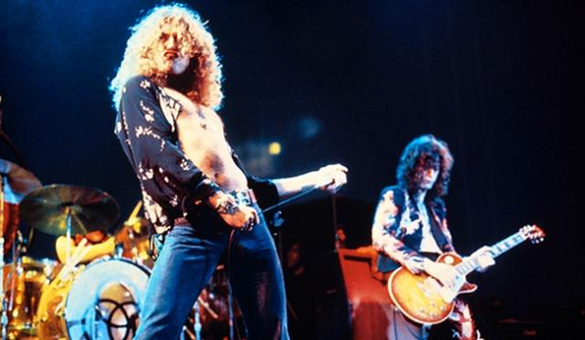 Robert Plant durante su etapa con Led Zeppelin.