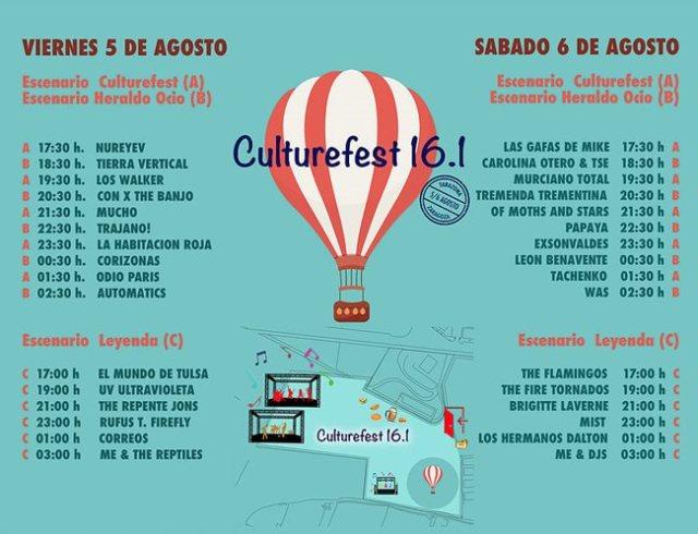 Horarios Culture Fest