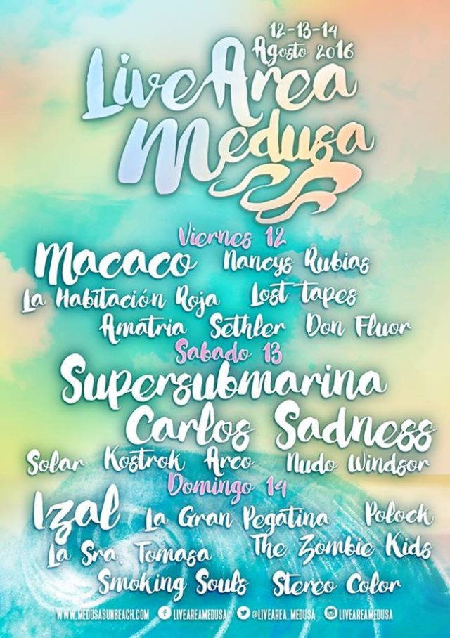 Cartel Live Stage del Medusa Sunbeach