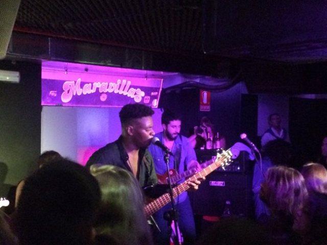 Fernando y Pablo en un momento de su concierto en Maravillas Club
