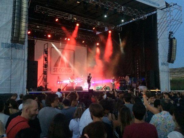 Second durante su concierto en el Festival Gigante