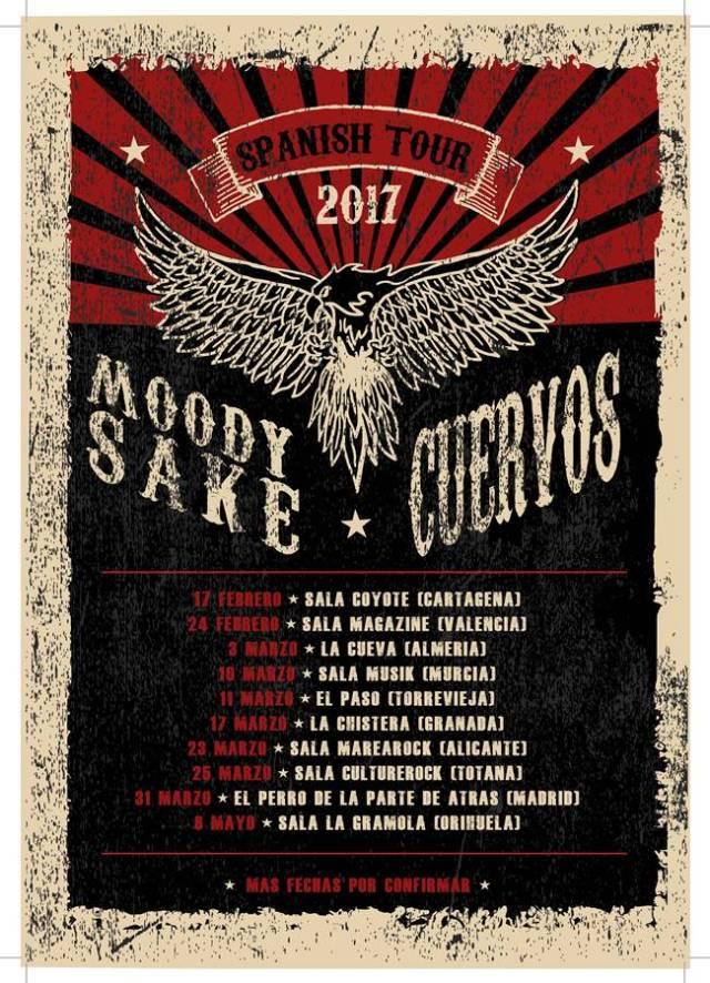 Cartel gira Moody Sake y Cuervos