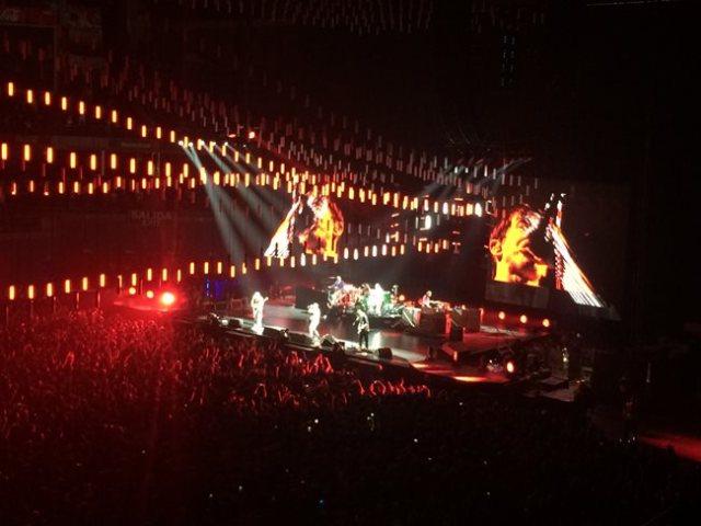 Red Hot Chili Peppers durante su concierto en Madrid.