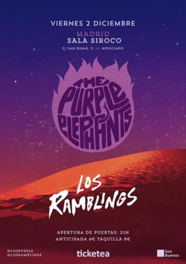 The Purple Elephants llegan a Madrid