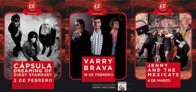 Cápsula, Varry Brava y Jenny and the mexicats formarán el ciclo de conciertos de Etiqueta Roja