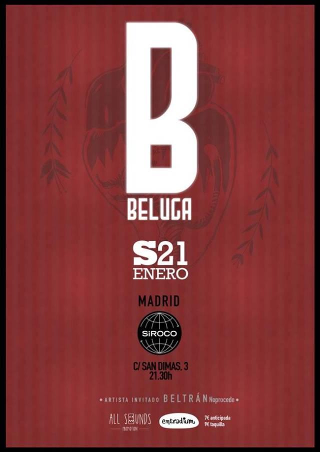Beluga presentara ¨Búmeran¨el 21 de enero en la Sala Siroco de Madrid