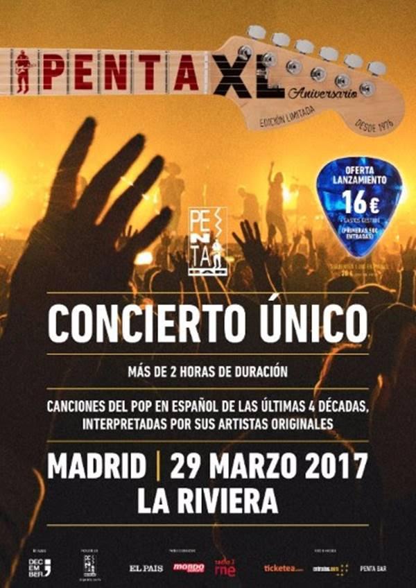 Cartel concierto 40 aniversario de El Penta