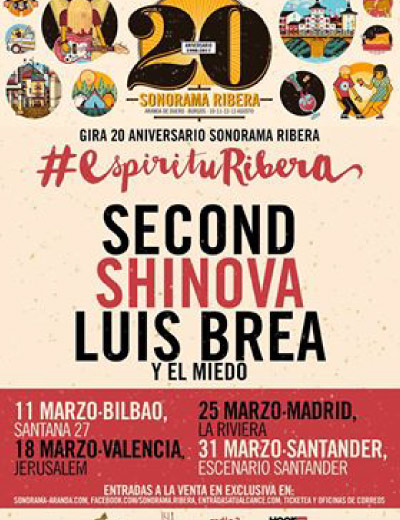 Gira 20 Aniversario Sonorama Ribera