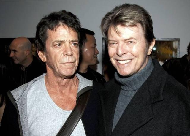 David Bowie y Lou Reed