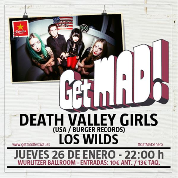 Death Valley Girls y Los Wilds inagurán el ciclo de conciertos de GetMAD!