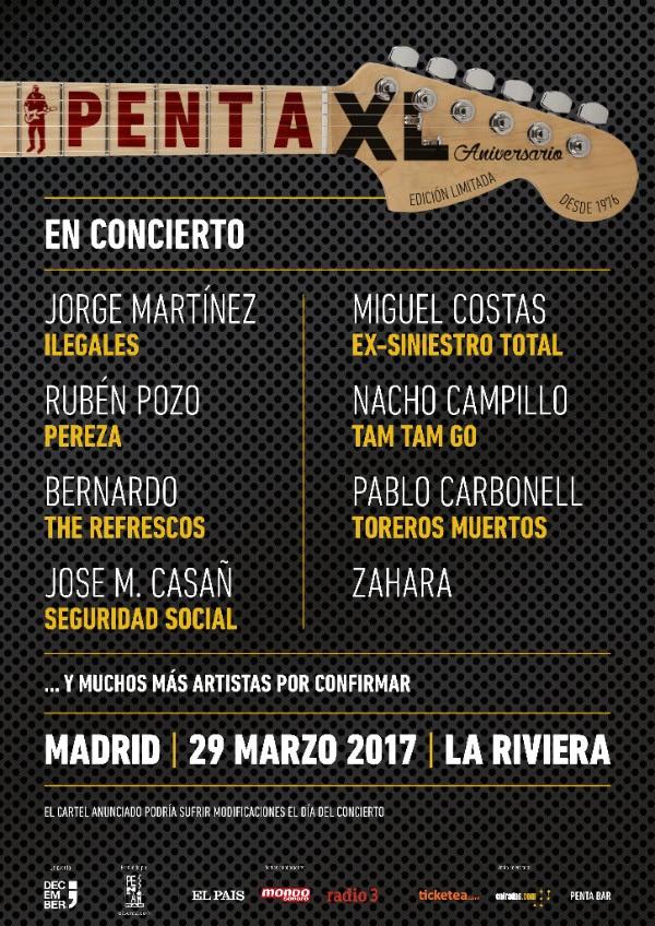 Cartel concierto aniversario El Penta