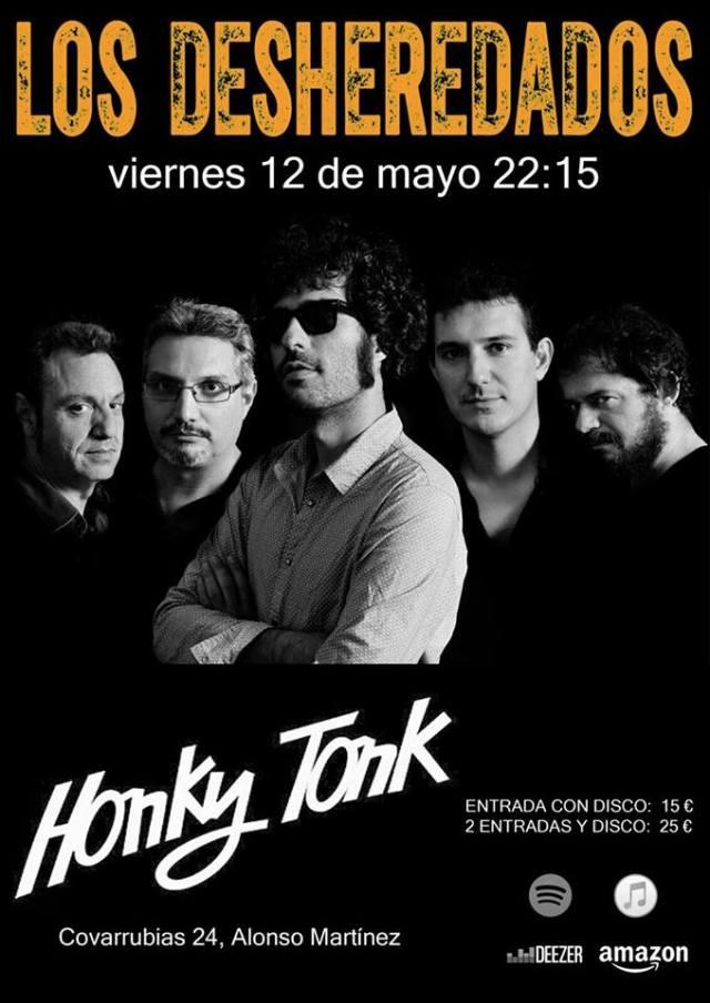 Los Desheredados estarán en Madrid el 12 de Mayo