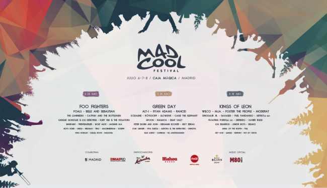 Cartel completo del Mad Cool