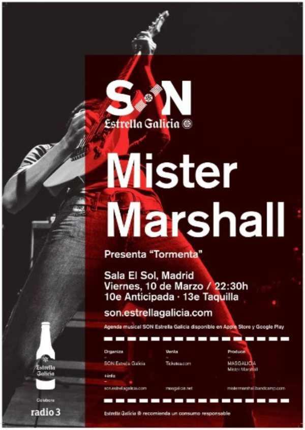 Mister Marshall estarán en concierto en Madrid el próximo día 10