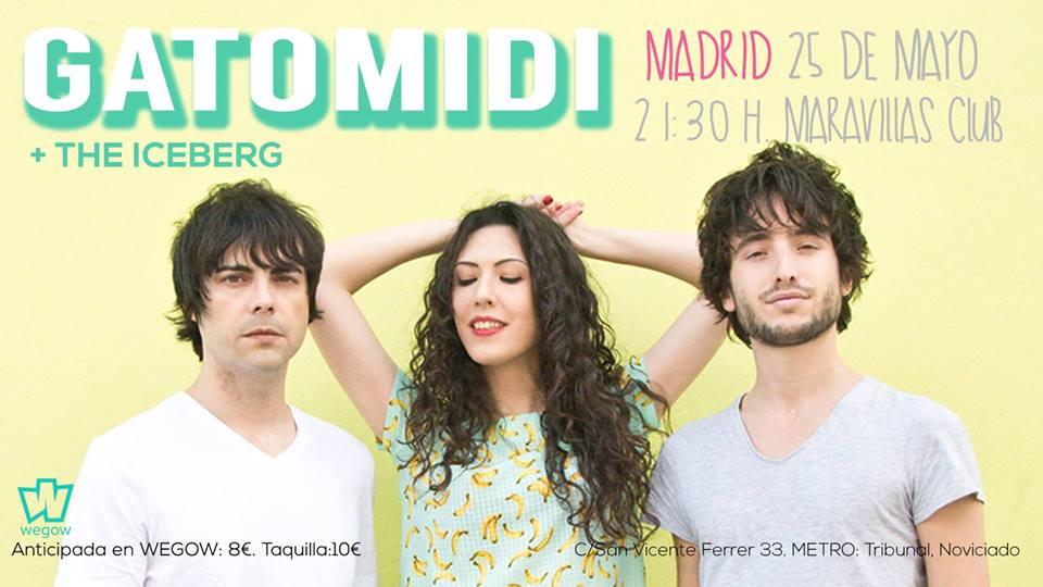 Gatomidi actúa este jueves en Madrid