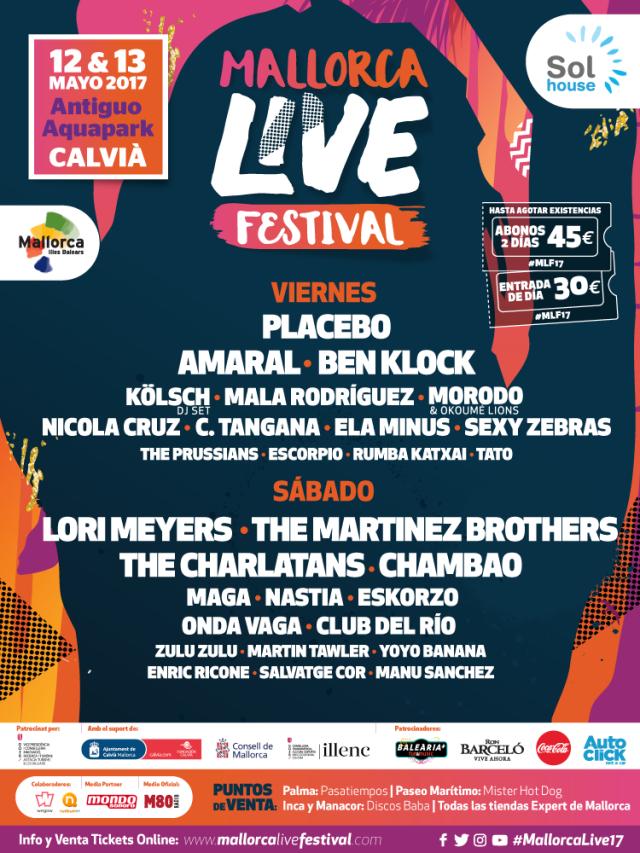 Cartel por días del Mallorca Live Festival