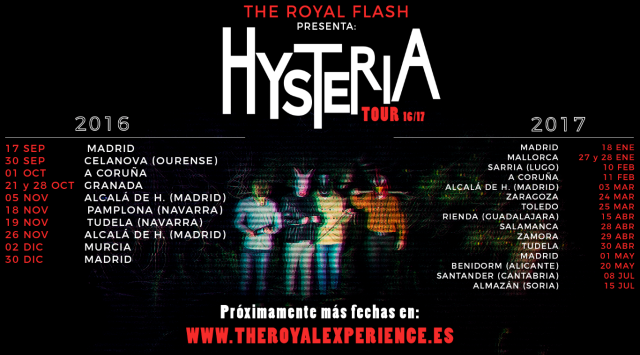 Próximas fechas del Hysteria Tour de The Royal Flash
