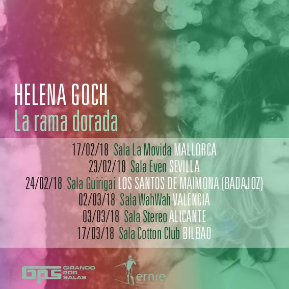 Fechas de la gira de Helena Goch