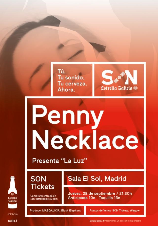 Pennynecklace en concierto en la sala El Sol