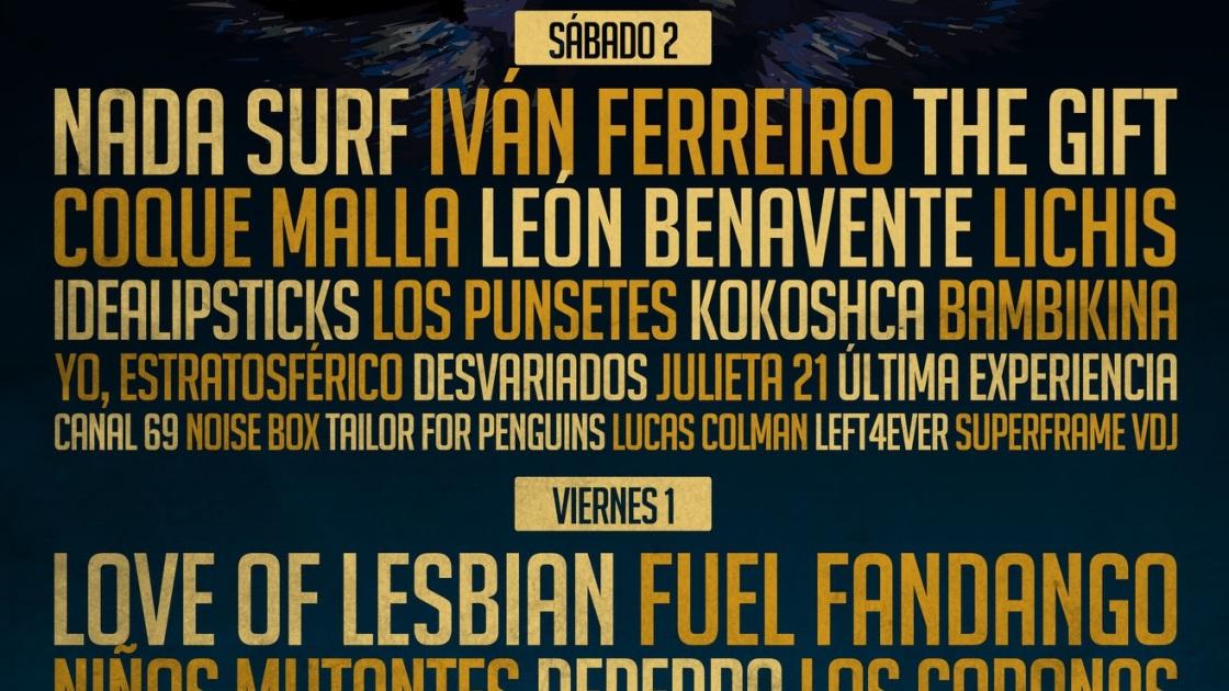Cartel por días del Festival Gigante 2017