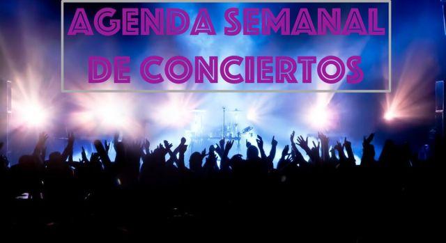 Agenda semanal de conciertos del 26 de marzo al 1 de abril
