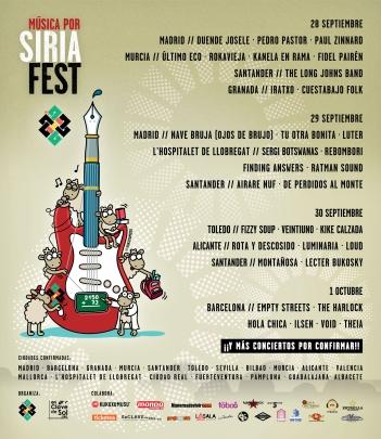 Cartel Música Por Siria Fest