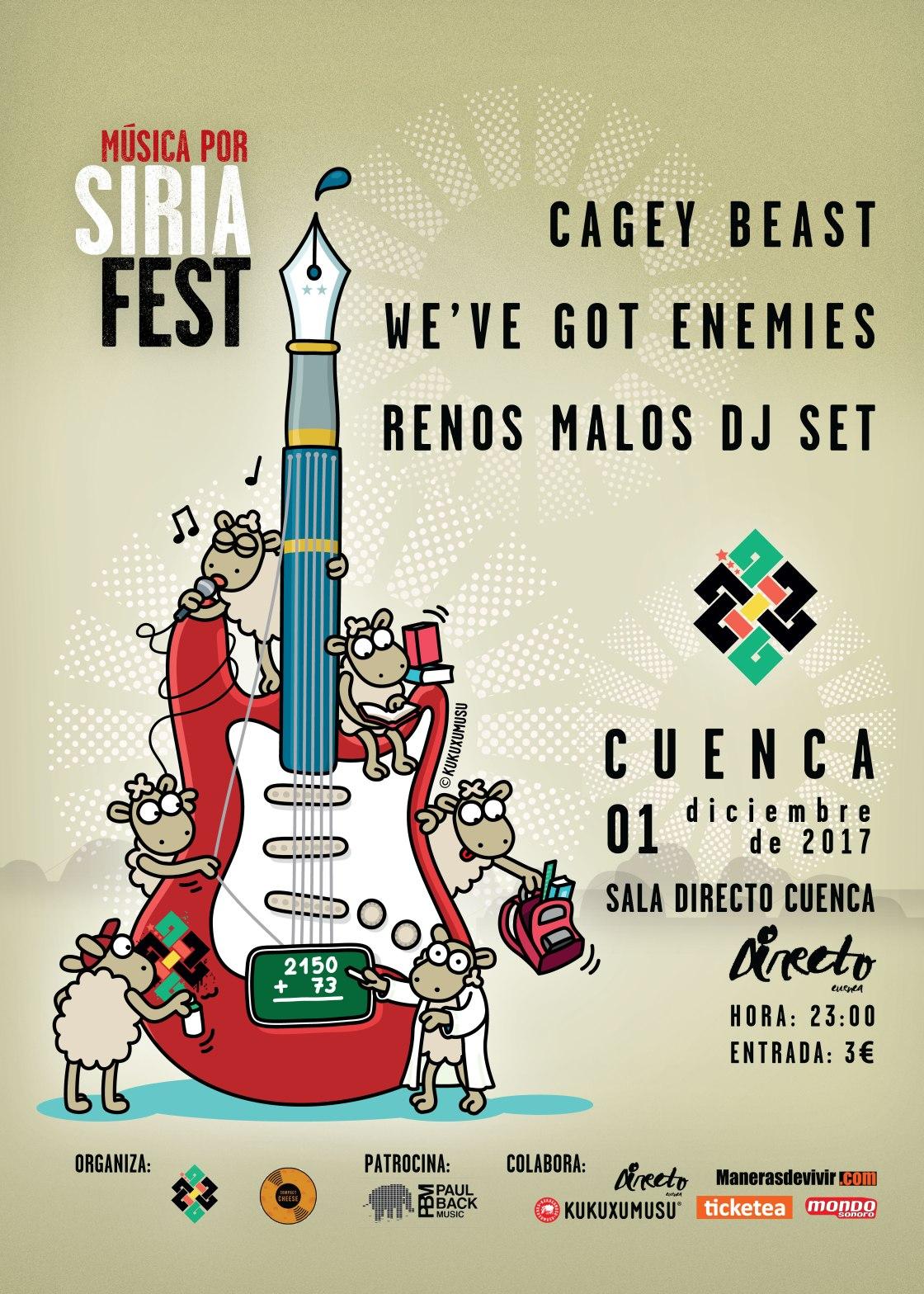 Music Por Siria Fest llega a Cuenca